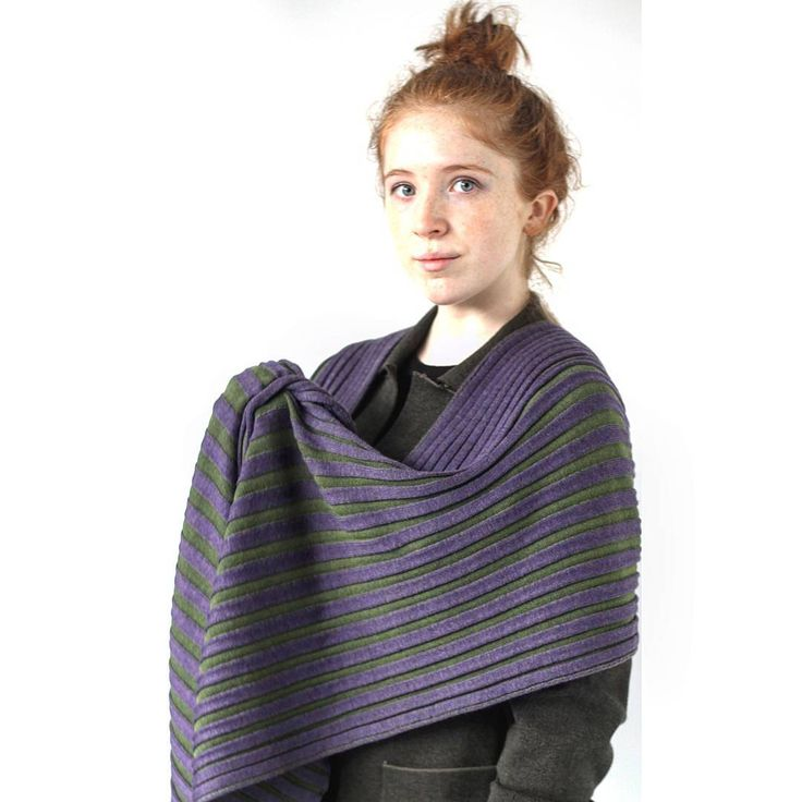 Meridian Scarf in the colour Heather |McKernan Woollen Mills | Handmade scarves and accessories | Made in Ireland | Irish Design | Co. Clare | Weaving & Knitting