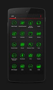 Chrom'd Green Icons APK for Blackberry | Download Android APK GAMES & APPS for BlackBerry, for BB, curve, 8520, bold, 9300, 9900, playbook, pearl, torch, 9800, 9700, cobbler, Z10, Z3, passport, Q10