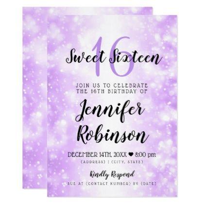 Sweet 16 Birthday Purple Dreamy Wonderland Card