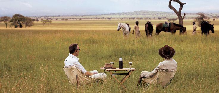 Equestrian safari in Singita Grumeti.