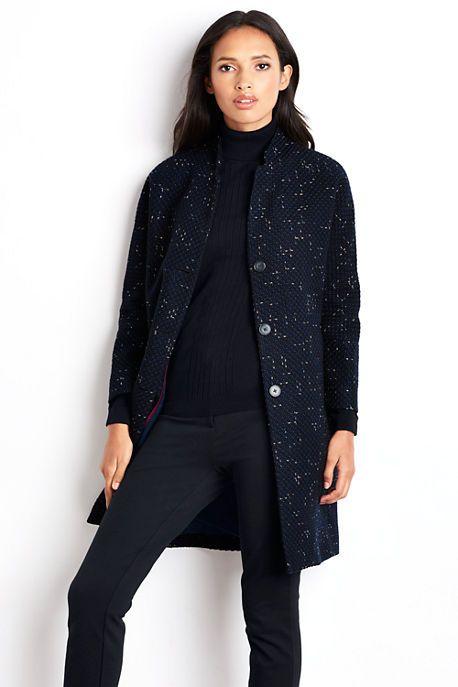 Women's Boucle Cocoon Coat