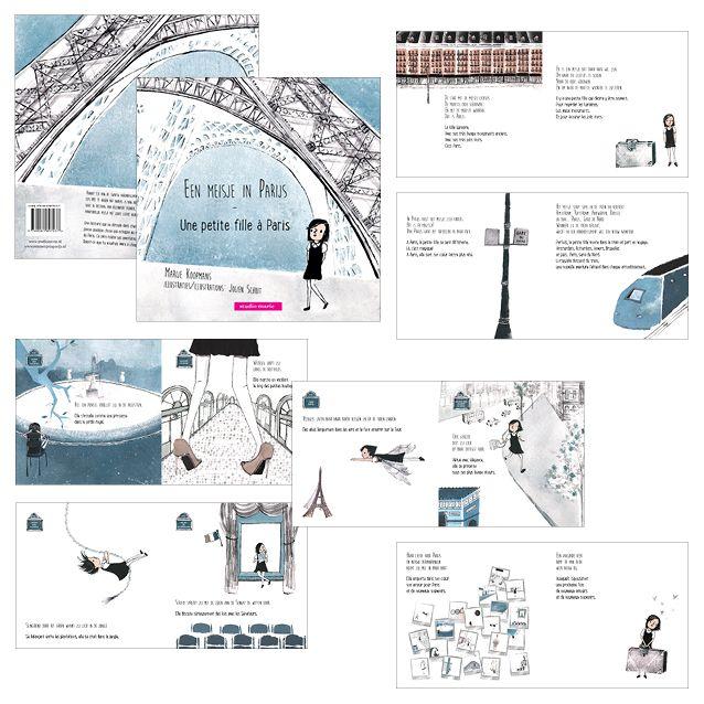 Een meisje in Parijs - studio marie grafisch ontwerp