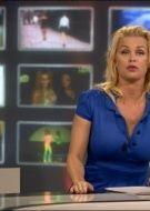Bridget Maasland wearing our Steady Dress on TV Shownieuws SBS6