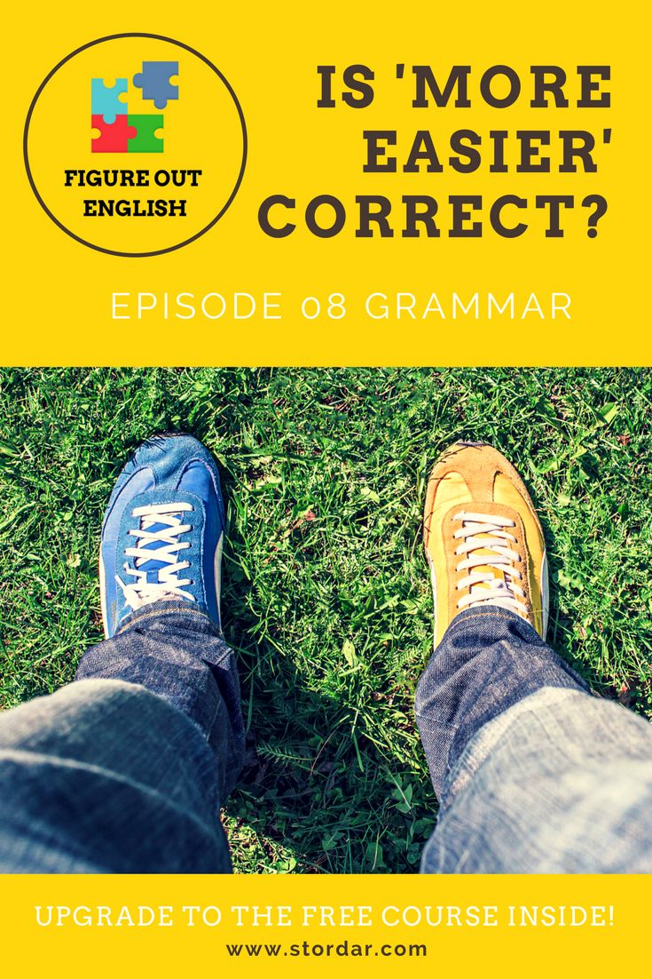 How to form comparatives in English easily. Check out the new episode of 'Figure Out English' with my grammar tips via @smartenglishlearning