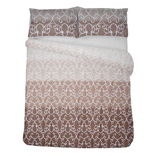 Printed polycotton   Trellis type design   Colour gradient   With matching pillowcase(s)   Machine washable