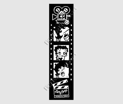 Betty Boop Cross Stitch Needlepoint Pattern Cartoon Silhouette  by NewYorkNeedleworks