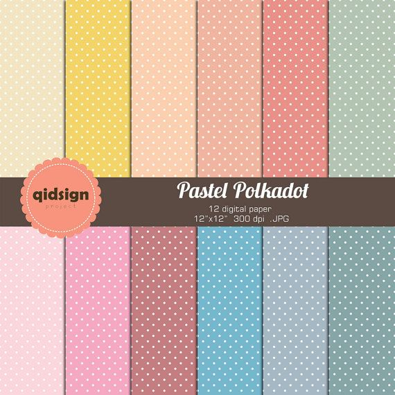 Hey, I found this really awesome Etsy listing at https://www.etsy.com/listing/168617155/pastel-polkadot-digital-paper-personal