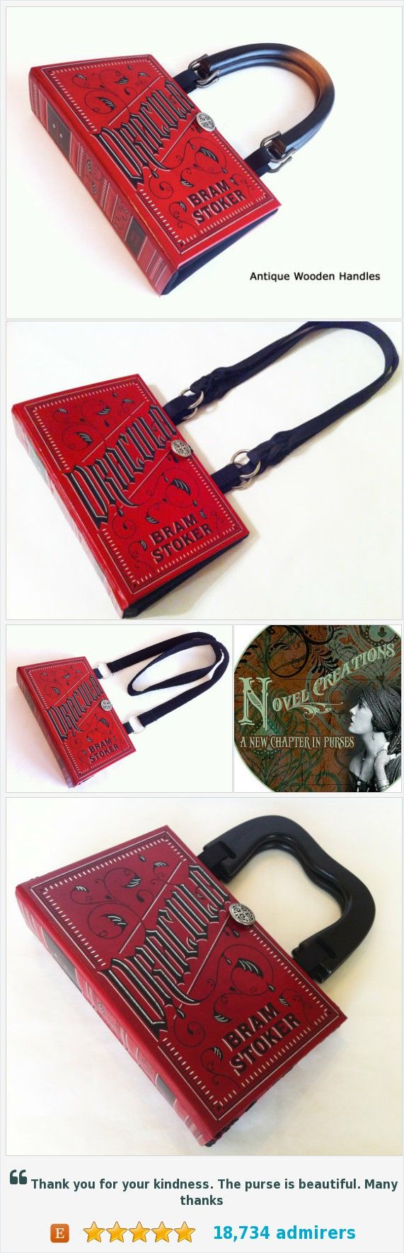 Dracula Book Purse - Dracula Book Clutch #etsy @novelcreations https://www.etsy.com/NovelCreations/listing/72629514/dracula-book-purse-dracula-book-clutch?ref=shop_home_active_13