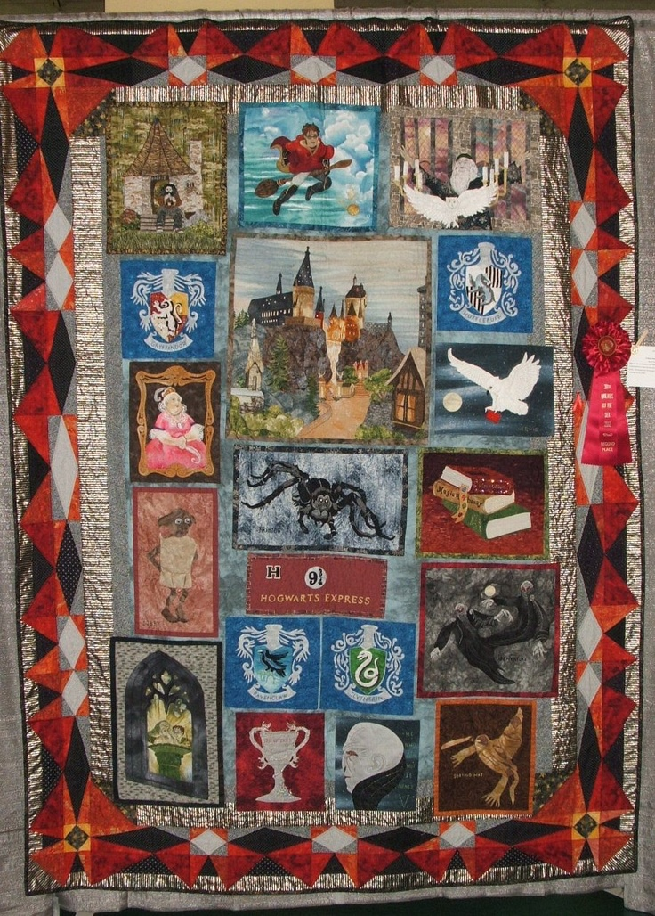 Harry Potter Quilt | Nerd Heaven | Pinterest | Quilt ...