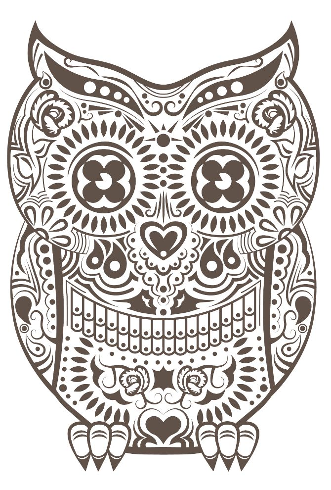 Owl - Day of the Dead style