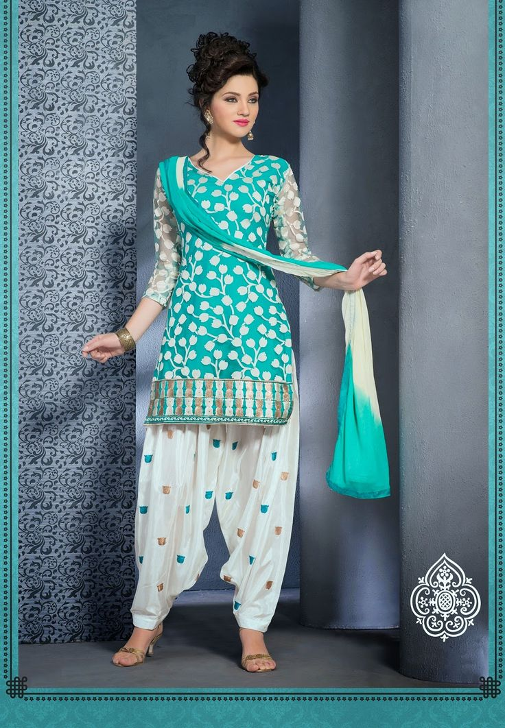 Light Blue Gold And White Punjabi Suit Punjabi Outfits Indian Outfits Afghani Clothes