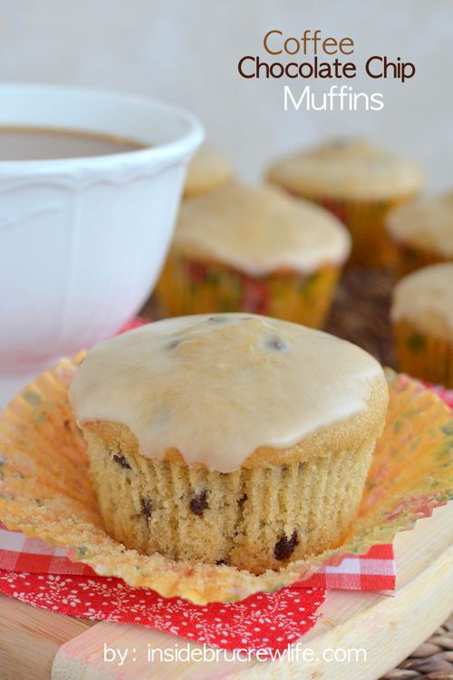 Coffee Chocolate Chip Muffins - coffee and chocolate join forces for a breakfast that will get you going