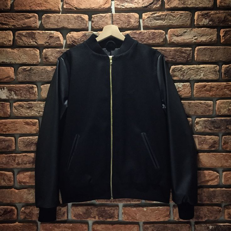 All Black & Gold Baseball Jacket.   Details
