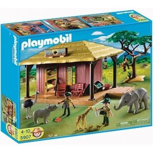 campamento refugio de animales playmobil