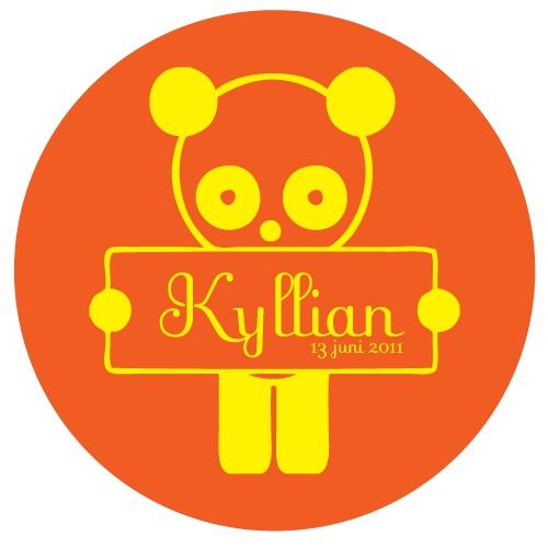 De kleuren van de babykamer van Kyllian kwamen perfect terug in de geboortesticker.
