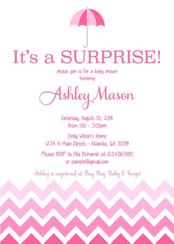 Baby Shower Surprise Baby Shower Invitations Wording