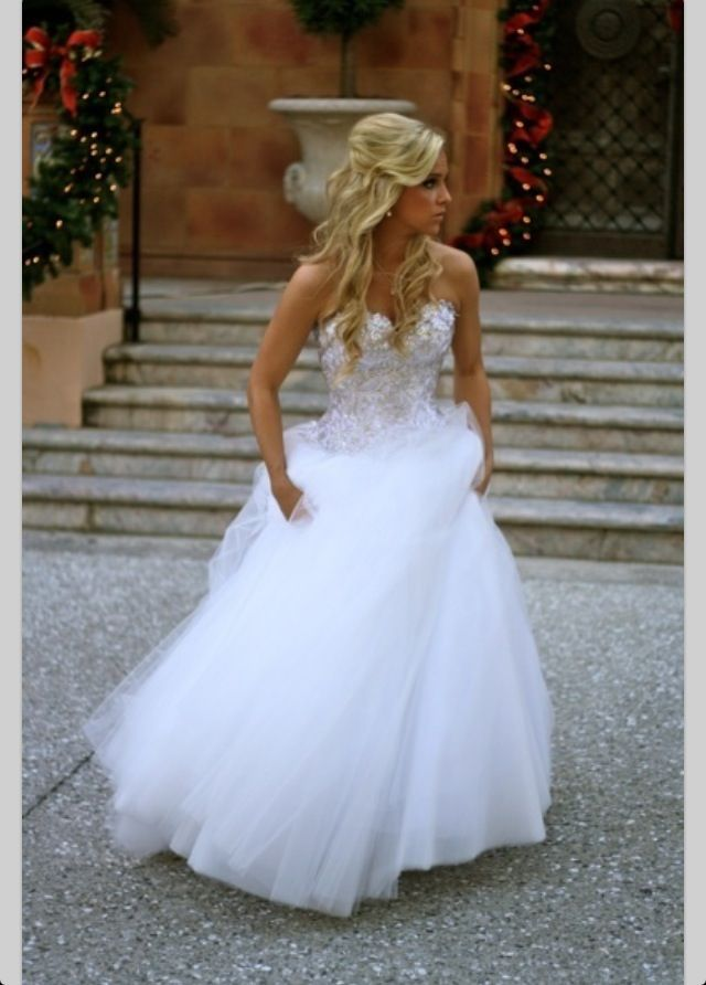 Wedding dress love the cinderella look also another favorite with an
