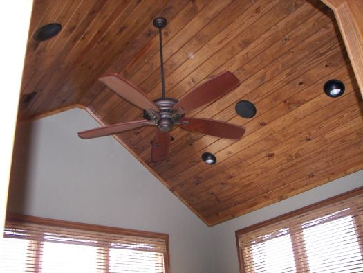 Vaulted wood ceiling house and home pinterest for Wood vaulted ceiling