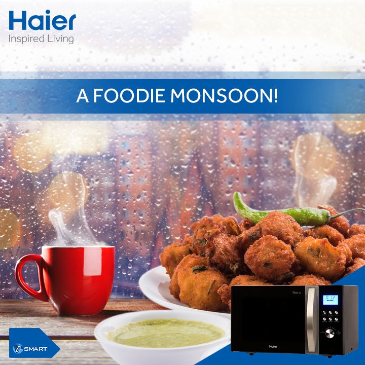 With a range of auto cook features in #Haier's #microwaves, make this #monsoon a #foodie one!