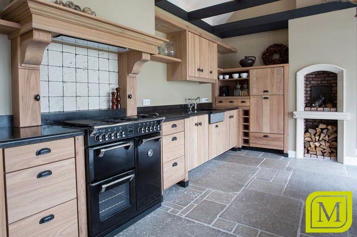 Keuken in landelijke stijl met open haard en fornuis mint keuken en interieurbouw landelijke - Open haard keuken photo ...
