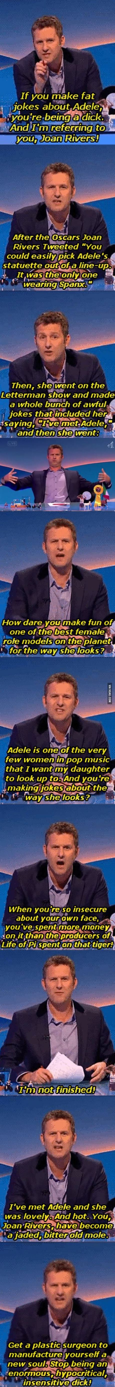 Comedian Destroys Joan Rivers Over Adele Comments...