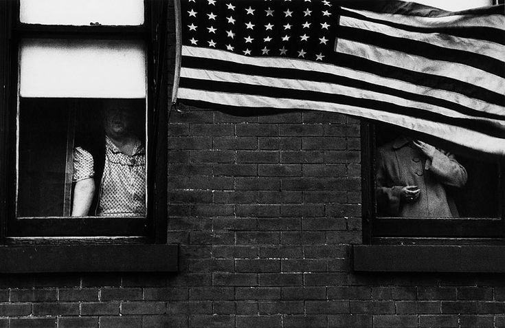 Parade - Hoboken, New Jersey, 1955 from Looking In: Robert Frank's The Americans published by Steidl. Photograph: Robert Frank/Steidl