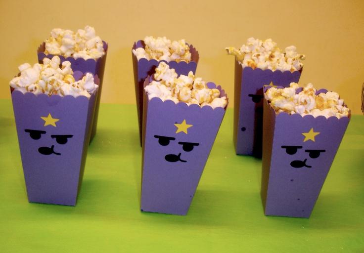 Pipoca - Princesa Caroçoooooo.... grunch LSP popcorn with glitter