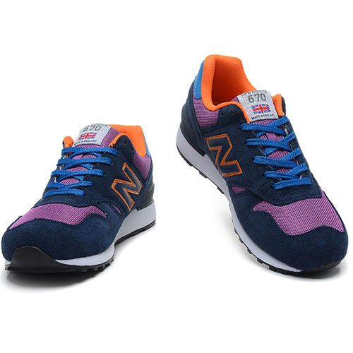 Navy Purple Orange New Balance 670 Lovers Shoes