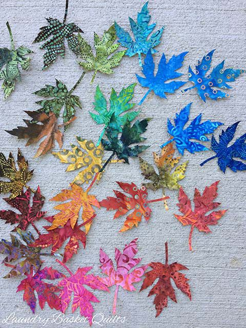 Leaves, shapes for applique, at Laundry Basket Quilts, this is a great way to make a first applique quilt