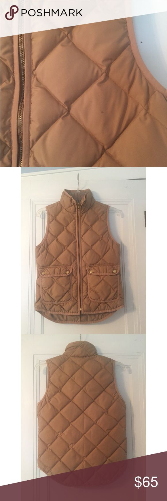 HTF GUC J. Crew (retail) Quilted Excursion Vest I saw GUC only because of the small spot in the last picture. It hasn't been dry cleaned so likely removable and hardly noticeable. It is very difficult to find this color because J. Crew hasn't re-released it like many of the other colors. J. Crew Jackets & Coats Vests