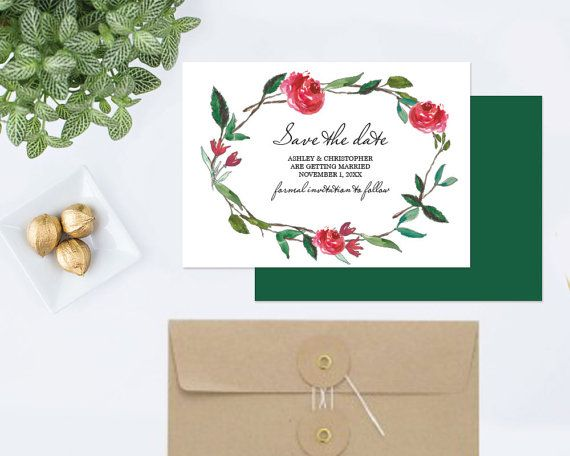 DIY Save The Date  MS Word Template Editable Text by VG Invites Instant download, type your own text  SEE MY FULL LINE OF #EDITABLE INVITATION #TEMPLATES AT https://www.pinterest.com/VGInvites/editable-invitation/