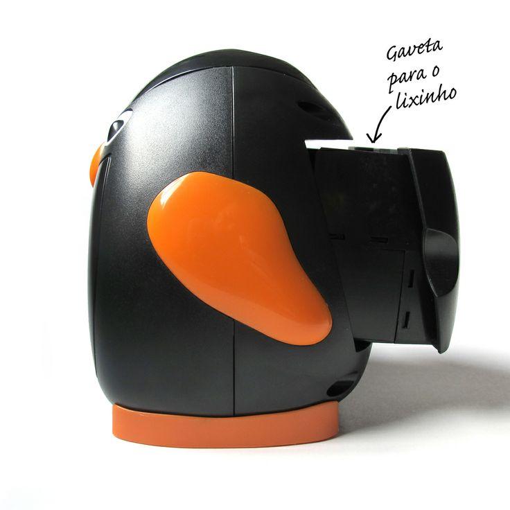 Apontador de mesa Pinguim.  http://www.portopapelaria.com.br/pd-6bef1-apontador-automatico-pinguim.html?ct=420a3&p=1&s=1
