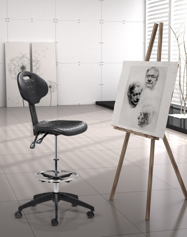 Zuo Ark Drafters Chair In Black, Itu0027s Great For Artists Of All Sorts!