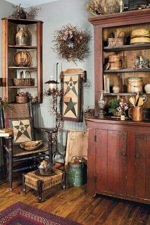 Beautiful primitive room.