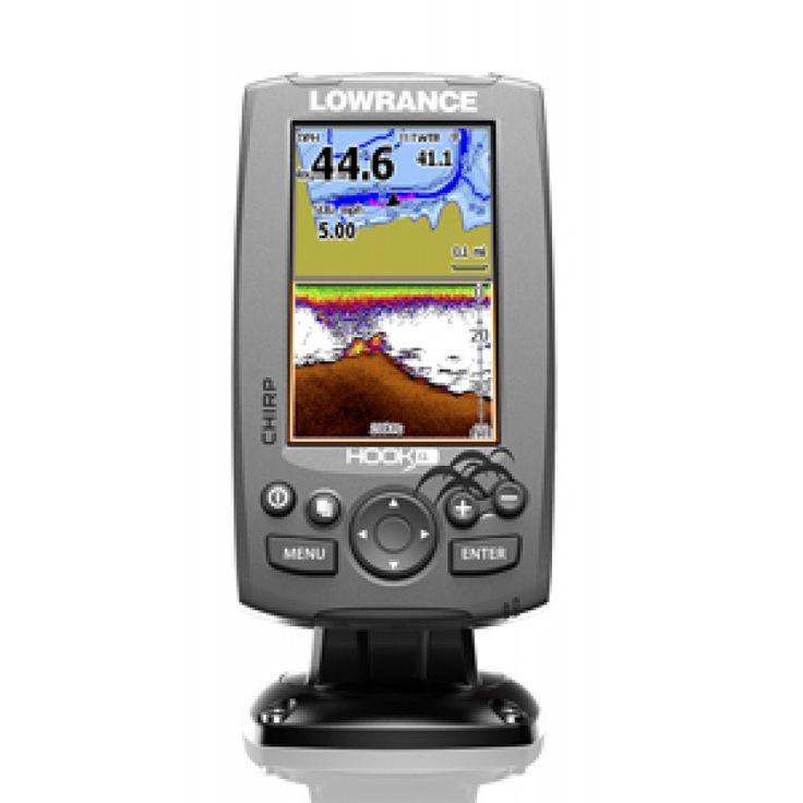 Gps y Sonda Lowrance Hook 4 Chirp.Lowrance Hook 4 GPS Sonda dispone pantalla a color 4 pulgadas de alta resolución.GPS Sonda Lowrance Hook 4inc