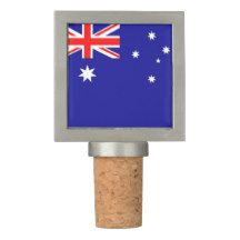Patriotic Wine Stopper with Flag of Australia
