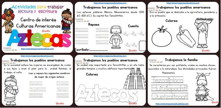 Tabajamos la lecto-escritura centro de interes los Aztecas Las fichas de lectura y escritura son un material pensado para reforzar la iniciación lectora. Lo más conveniente es que los niños utilicen el material y...