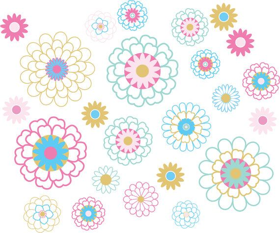 Flower decal  teen decals  wall decals  camp trunk decals