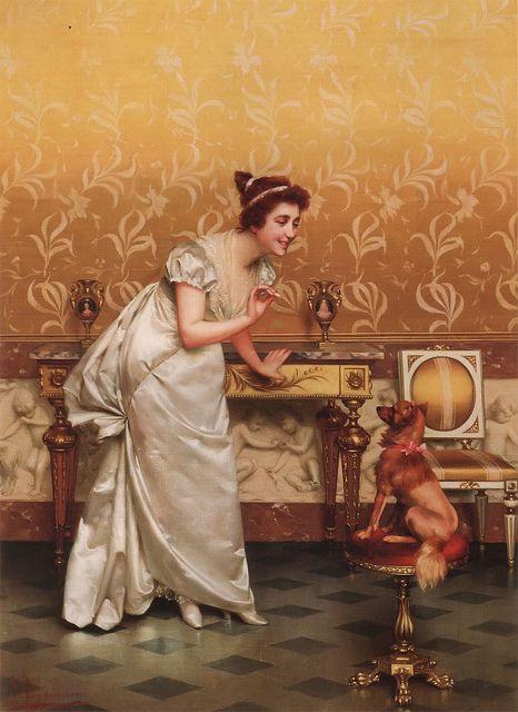 "Vittorio Reggianini (Italian,1858-1938), ""Teasing""   Flickr: Intercambio de fotos"