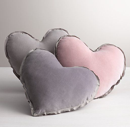 """Washed Velvet Decorative Pillow (14"""" x 14"""") in Dusty Rose, $30 at Restoration Hardware Baby and Child."""