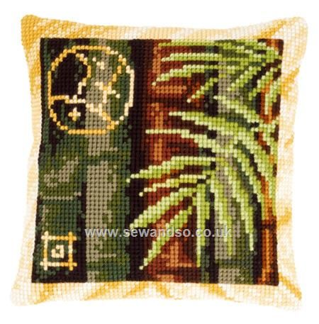 Buy Bamboo II Cushion Front Chunky Cross Stitch Kit Online at www.sewandso.co.uk