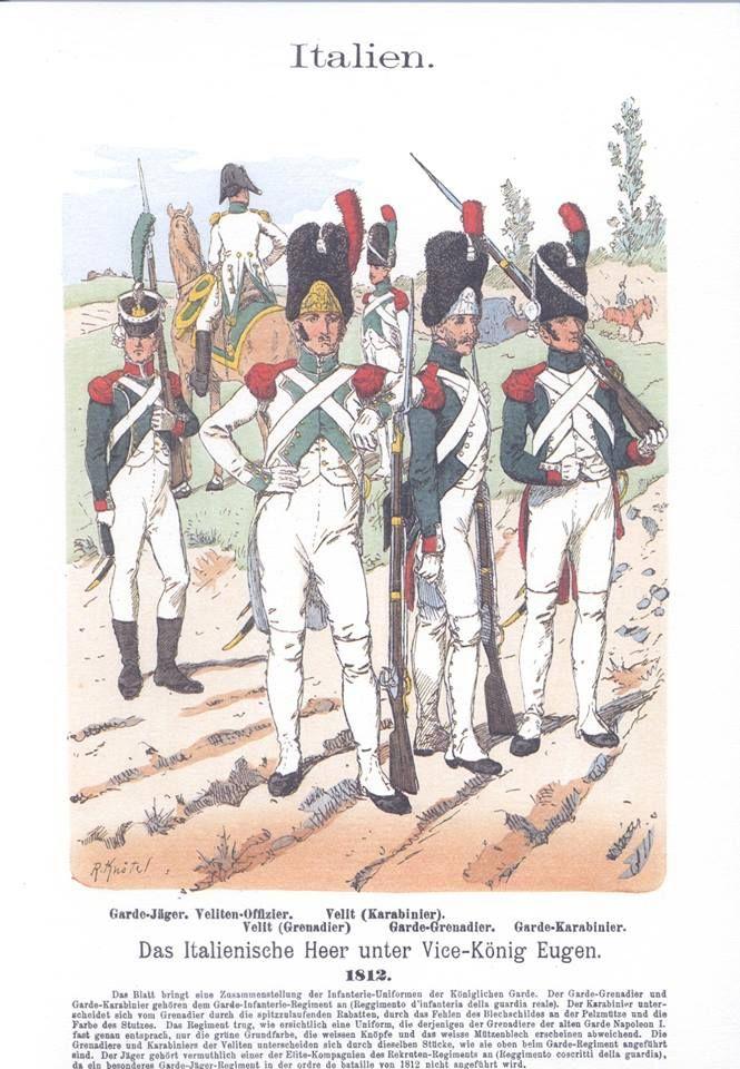 Band III #59.- Italien. Das italienische Heer unter Vice-König Eugen. 1812.