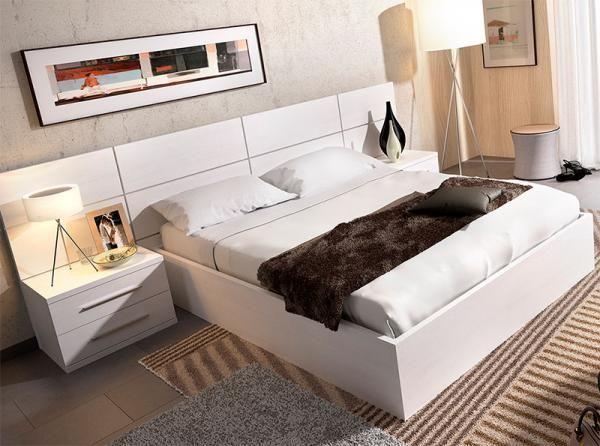 Rimobel modern double or kingsize storage bed with optional bedside cabinets