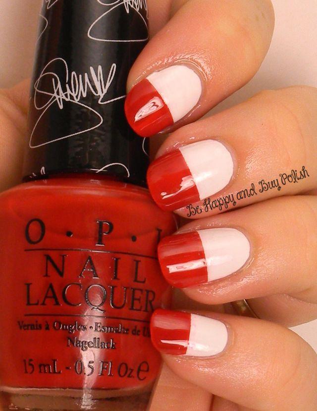 OMD2 Nail Art Poland Flag