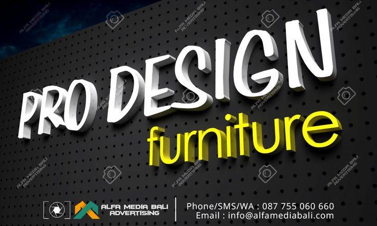 Huruf timbul Acrylic Pro design di bali | Alfa Media Bali