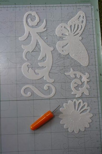 Cake Design--Gumpaste vs. Cricut Test Part 2