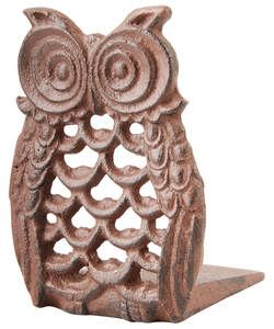 Fallen Fruits Cast Iron Owl Doorstop.