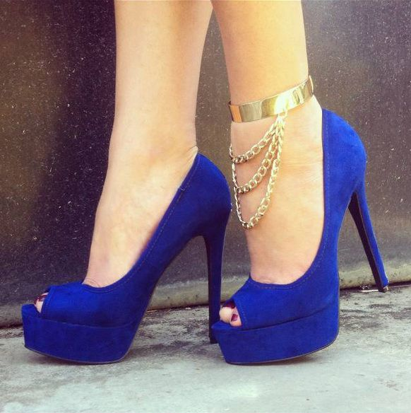 Draped Chain Banded Anklet