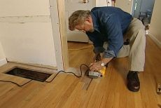 How to patch a damaged wood floor | Ron Hazelton