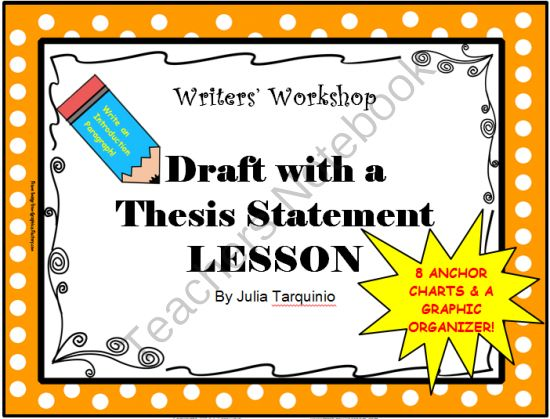 teaching thesis statements esl